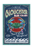 Gloucester  Virginia - Blue Crab Vintage Sign