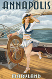 Annapolis  Maryland - Pinup Girl Sailing