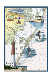 Long Beach Island  New Jersey - Nautical Chart