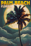 Palm Beach  Florida - Palms and Moon