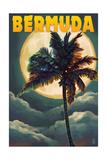 Bermuda - Palm and Moon