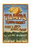 Tampa  Florida - Orange Grove Vintage Sign