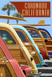 Coronado  California - Woodies Lined Up
