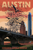 Austin  Texas - Bats and Congress Avenue Bridge