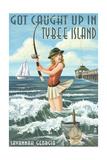 Tybee Island  Georgia - Pinup Girl Fishing