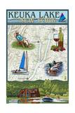 Keuka Lake  New York - Nautical Chart
