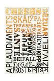 Beer Typography - Cheers in Different Languages