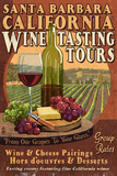Santa Barbara  California - Wine Tasting Vintage Sign