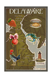 Delaware Map and Icons