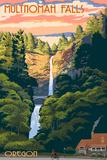 Multnomah Falls  Oregon - Sunset