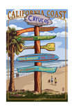 Cayucos  California - Destination Sign