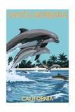 Santa Barbara  California - Dolphins Jumping