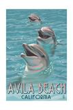 Avila Beach  CA - Dolphins