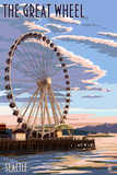 The Great Wheel at Sunset - Seattle  Washington
