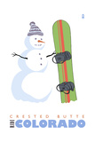 Crested Butte  Colorado - Snowman with Snowboard