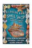 Moonstone Beach  California - Shell Shop Vintage Sign