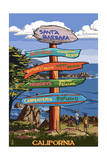 Santa Barbara  California - Destination Sign