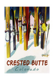 Crested Butte  Colorado - Colorful Skis