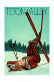 Teton Valley  Idaho - Ski Pinup