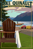 Lake Quinault and Adirondack Chairs - Washington
