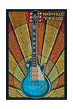 Nashville  Tennessee - Guitar Mosaic