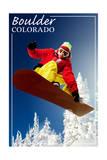 Boulder  Colorado - Snowboarder