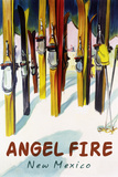 Angel Fire  New Mexico - Colorful Skis