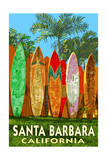 Santa Barbara  California - Surfboard Fence
