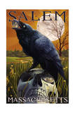 Salem  Massachusetts - Raven and Skull