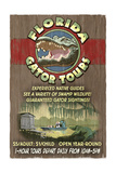 Florida - Alligator Tours Vintage Sign