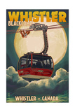 Gondola and Full Moon - Whistler  Canada
