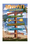 Kailua  Hawaii - Kailua Beach Sign Destination