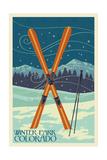 Winter Park  Colorado - Crossed Skis