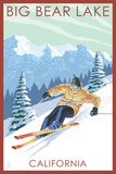 Big Bear Lake - California - Downhill Skier