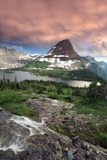 Glacier National Park  Montana - Hidden Lake and Bearhat Mountain Sunrise
