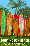 Huntington Beach  California - Surfboard Fence
