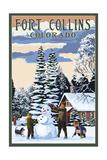 Fort Collins  Colorado - Snowman Scene