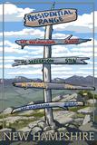 Presidential Range  New Hampshire - Destination Sign
