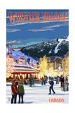 Village Scene - Whistler  Canada