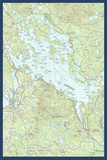 Lake Winnipesaukee  New Hampshire - Map Only