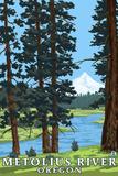 Metolius River  Oregon and Mt Hood