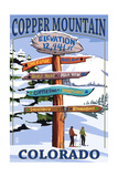 Copper Mountain  Colorado - Ski Signpost