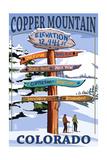 Copper Mountain  Colorado - Ski Signpost