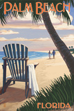 Palm Beach  Florida - Adirondack Chair on the Beach