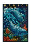 Venice  Florida - Dolphins Paper Mosaic