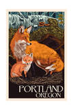 Portland  Oregon - Fox and Kit