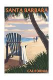 Santa Barbara  California - Adirondack Chair on the Beach