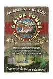 Sanibel  Florida - Alligator Tours Vintage Sign