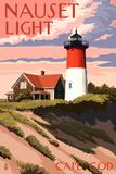 Cape Cod  Massachusetts - Nauset Light and Sunset