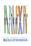 Big Bear Lake - California - Skis in Snow